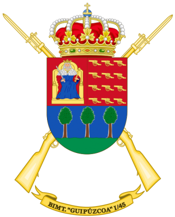 Coat of arms (crest) of the Motorized Infantry Battalion Guipúzcoa I-45, Spanish Army