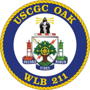 Coat of arms (crest) of the USCGC Oak (WLB-211)