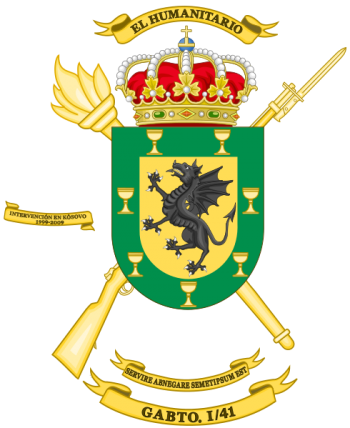 Coat of arms (crest) of the Supply Group I-41, Spanish Army