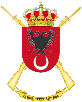 Coat of arms (crest) of the Tabor Tetuán I-54, Spanish Army