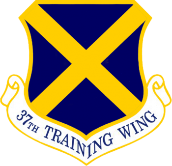 Coat of arms (crest) of the 37th Training Wing, US Air Force