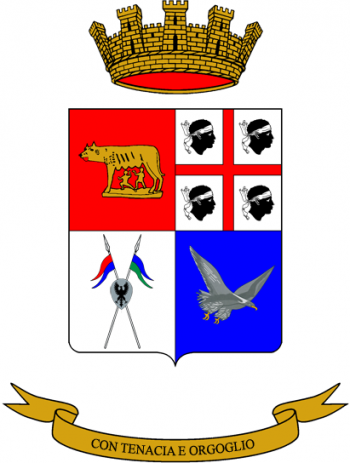 Coat of arms (crest) of the 47th Signal Battalion Gennargentu, Italian Army