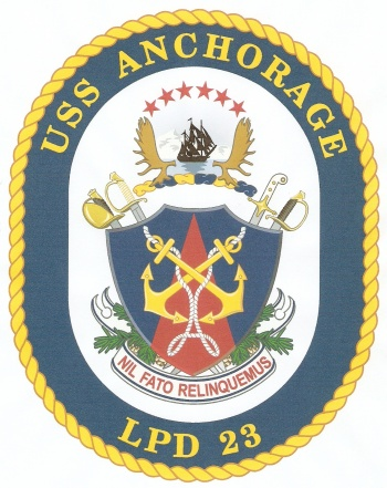 Coat of arms (crest) of the Ampibious Transport Dock USS Anchorage (LPD-23), US Navy