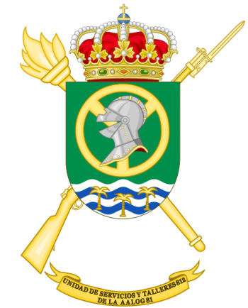 Coat of arms (crest) of the Logistics Services and Mechanical Workshops Unit 812, Spanish Army