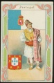 Arms, Flags and Folk Costume trade card Portugal