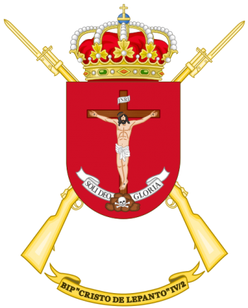 Coat of arms (crest) of the Protected Infantry Bandera Cristo de Lepanto IV-2, Spanish Army