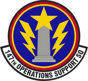 Coat of arms (crest) of the 147th Operations Support Squadron, Texas Air National Guard