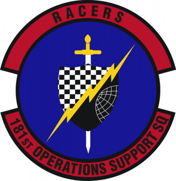 Coat of arms (crest) of the 181st Operations Support Squadron, Indiana Air National Guard