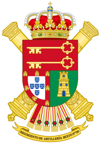 Coat of arms (crest) of the 30th Mixed Artillery Regiment, Spanish Army