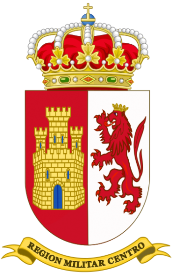 Coat of arms (crest) of the Central Military Region, Spanish Army
