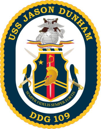 Coat of arms (crest) of the Destroyer USS Jason Dunham (DDG-109)
