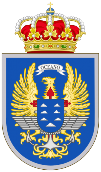 Coat of arms (crest) of the Canary Islands Joint Command, Spain