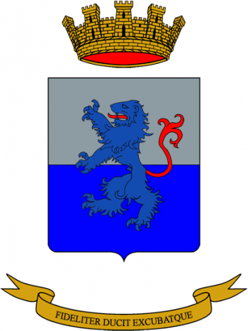 Coat of arms (crest) of the Headquarters and Signals Unit Brescia, Italian Army