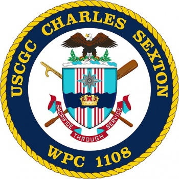 Coat of arms (crest) of the USCGC Charles Sexton (WPC-1108)
