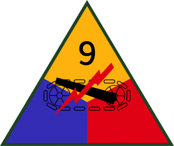 Arms of 9th Armored Division, US Army