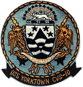 Coat of arms (crest) of the Aircraft Carrier USS Yorktown (CVS-10)