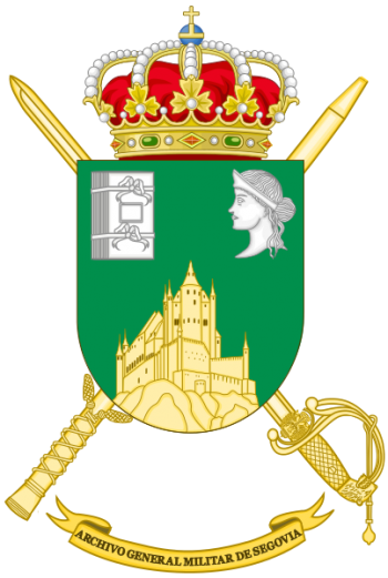Coat of arms (crest) of the General Military Archive of Segovia, Spanish Army