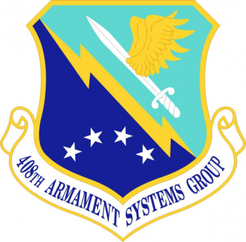Coat of arms (crest) of the 408th Armament Systems Group, US Air Force