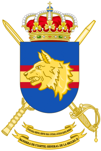 Coat of arms (crest) of the Brigade King Alfonso XIII II of the Legion Headquarters Bandera, Sapnish Army