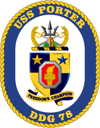 Coat of arms (crest) of the Destroyer USS Porter