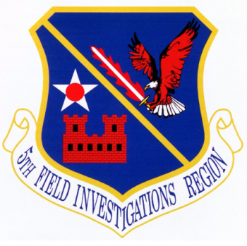 Coat of arms (crest) of the 5th Field Investigations Region, US Air Force