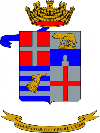 Coat of arms (crest) of the 9th Self-Propelled Field Artillery Group Brennero, Italian Army