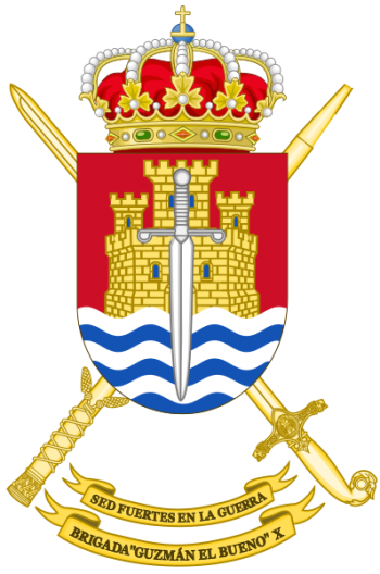 Coat of arms (crest) of the Brigade Guzmán el Bueno X, Spanish Army