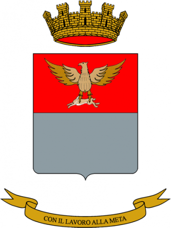 Coat of arms (crest) of the Acqui logistics Battalion, Italian Army