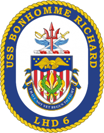 Coat of arms (crest) of the Landing Helicopter Dock USS Bonhomme Richard (LHD-6)