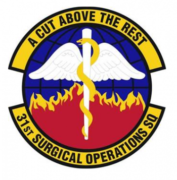 Coat of arms (crest) of the 31st Surgical Operations Squadron, US Air Force