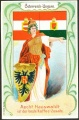 Arms, Flags and Folk Costume trade card Österreich
