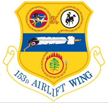 Coat of arms (crest) of the 153rd Airlift Wing, Wyoming Air National Guard