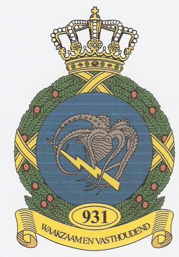 Coat of arms (crest) of the 931st Squadron, Netherlands Air Force