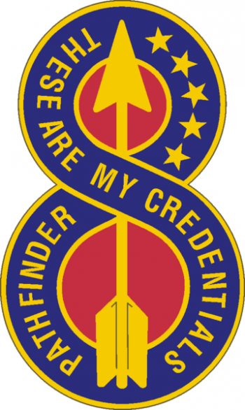 Arms of 8th Infantry Division Pathfinder, US Army