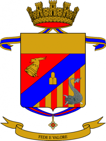 Coat of arms (crest) of the 47th Volunteer Administration Regiment Ferrara, Italian Army