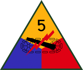 Arms of 5th Armored Division, US Army