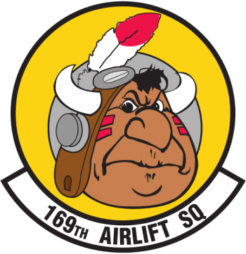 Coat of arms (crest) of the 169th Airlift Squadron, Illinois Air National Guard