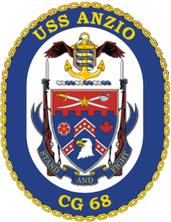 Coat of arms (crest) of the Cruiser USS Anzio