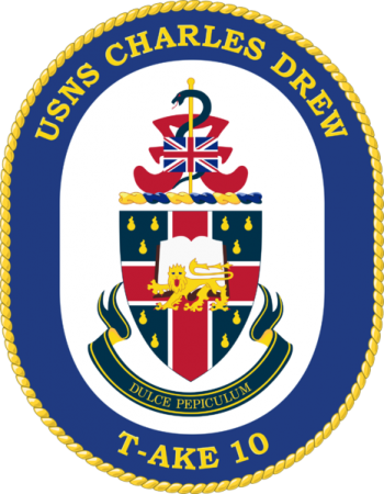 Coat of arms (crest) of the Dry Cargo Ship USNS Charles Drew (T-AKE-10)