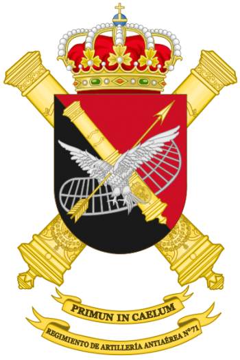Coat of arms (crest) of the 71st Air Defence Artillery Regiment, Spanish Army