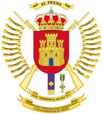 Coat of arms (crest) of the Infantry Regiment Inmemorial del Rey No 1, Spanish Army