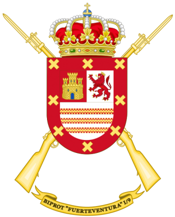 Coat of arms (crest) of the Protected Infantry Bandera Fuerteventura I-9, Spanish Army