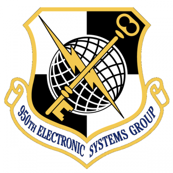 Coat of arms (crest) of the 950th Electronic Systems Group, US Air Force