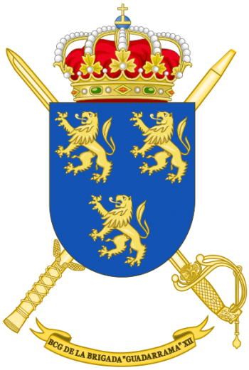 Coat of arms (crest) of the Brigade Guadarrama XII Headquarters Battalion, Spanish Army