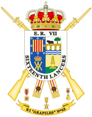Infantry Regiment Arapiles No 62, Spanish Army.png