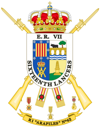 Coat of arms (crest) of the Infantry Regiment Arapiles No 62, Spanish Army