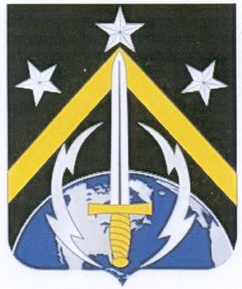 Coat of arms (crest) of the 1st Space Battalion, US Army