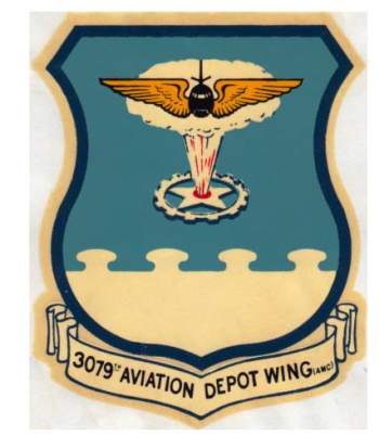 Coat of arms (crest) of the 3079th Aviation Depot Wing, US Air Force