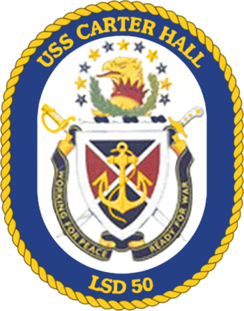 Coat of arms (crest) of the Dock Landing Ship USS Carter Hall (LSD-50)