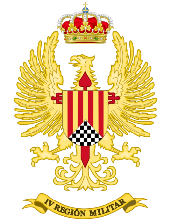 Coat of arms (crest) of the IV Military Region, Spanish Army